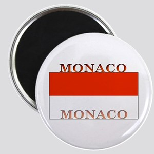 Monaco Monegasque Flag Magnet